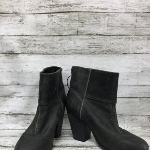 Primary Photo - BRAND: RAG AND BONE STYLE: BOOTS ANKLE COLOR: CHARCOAL SIZE: 9 SKU: 127-4876-8463DARK GREY DISTRESSED STYLE HEELED BOOTIES BY RAG AND BONE! SILVER ZIPPER IN BACK WITH BLACK LEATHER PULL. LIGHT WEAR ON SOLES.