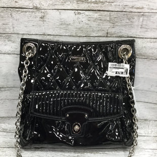 Primary Photo - BRAND: COACH STYLE: HANDBAG DESIGNER COLOR: BLACK SIZE: LARGE SKU: 127-4876-7973THIS COACH HANDBAG HAS A CHAIN STRAP. THERE IS A SMALL OUTSIDE POCKET. INSIDE THERE ARE TWO SLIP POCKETS AND A ZIPPER POCKET. IN GREAT CONDITION WITH VERY LITTLE WEAR.