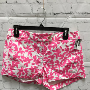 Primary Photo - BRAND: J CREW O STYLE: SHORTS COLOR: PINK SIZE: 4 SKU: 127-3366-8850WHITE AND PINK FLOWER PRINT SHORTS!