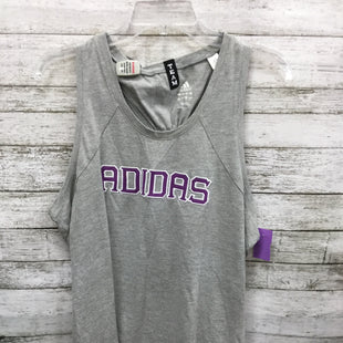Primary Photo - BRAND: ADIDAS STYLE: ATHLETIC TANK TOP COLOR: GREY SIZE: XL SKU: 127-2767-92994