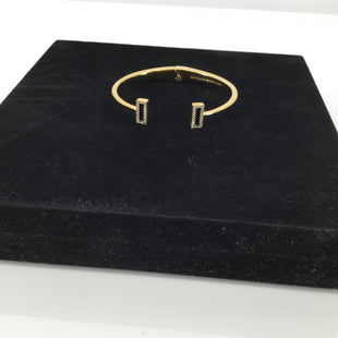 Kate Spade Bracelet - CHIC KATE SPADE BANGLE BRACELET. SEMICIRCLE SHAPE.  BLACK RECTANGLE DETAIL WITH DIAMOND TRIM.  SOME MINOR SIGNS OF WEAR.  SEE PHOTOS.IN EXCELLENT PRE-OWNED CONDITION..