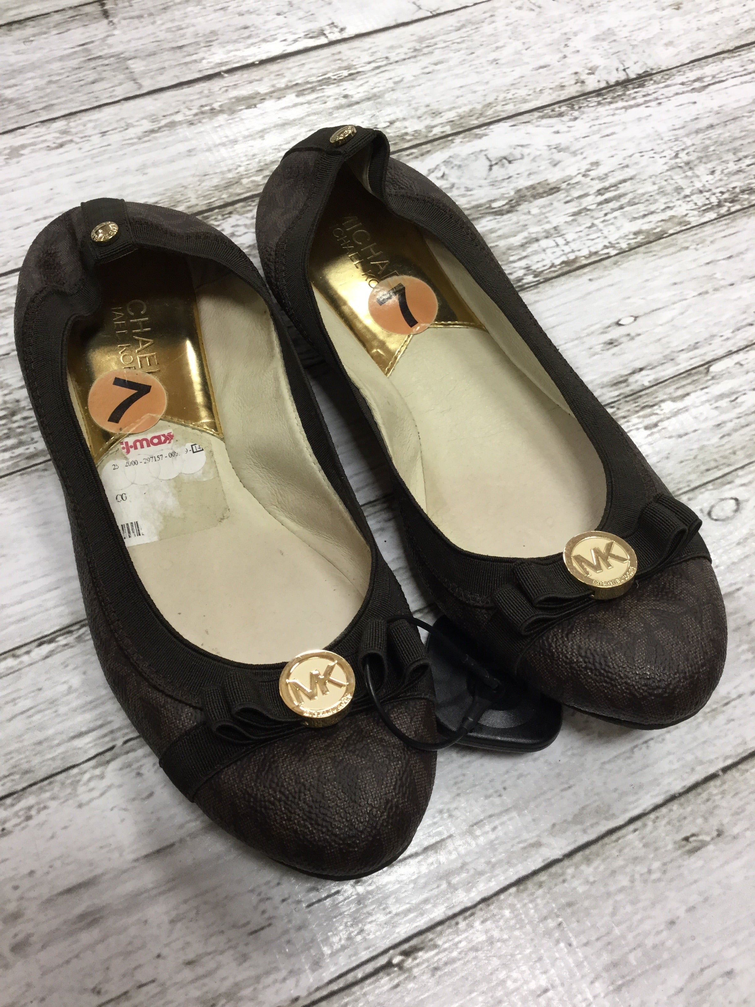 Photo #1 - BRAND: MICHAEL BY MICHAEL KORS <BR>STYLE: SHOES FLATS <BR>COLOR: BROWN <BR>SIZE: 7 <BR>SKU: 127-4169-34556