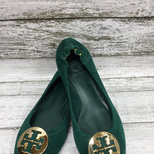 Primary Photo - BRAND: TORY BURCH STYLE: SHOES FLATS COLOR: GREEN SIZE: 6 SKU: 127-4559-16407THESE SUEDE TORY BURCH FLATS ARE IN GOOD CONDITION WITH JUST SOME MINOR WEAR ON THE LOGO AND BOTTOMS.