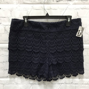 Primary Photo - BRAND: ANN TAYLOR LOFT STYLE: SHORTS COLOR: NAVY SIZE: 8 SKU: 127-4954-5941NAVY CROCHET SHORTS WITH SIDE ZIPPER!