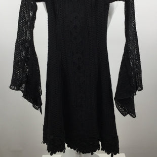 NICHOLAS SHORT LONG SLEEVE LACE DRESS, SIZE 2. - BLACE LACE DRESS WITH BLACK LINING WITH 3/4 SLEEVES.LACE 97% NYLON, 3% COTTON.LINING 100% POLYESTER.DRY CLEAN ONLY..