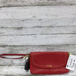 Primary Photo - BRAND: COACH STYLE: WRISTLET COLOR: RED SIZE: M SKU: 127-2767-92153LARGE RED WRISTLET WITH ORIGINAL TAGS STILL ATTACHED! IN NEW CONDITION.