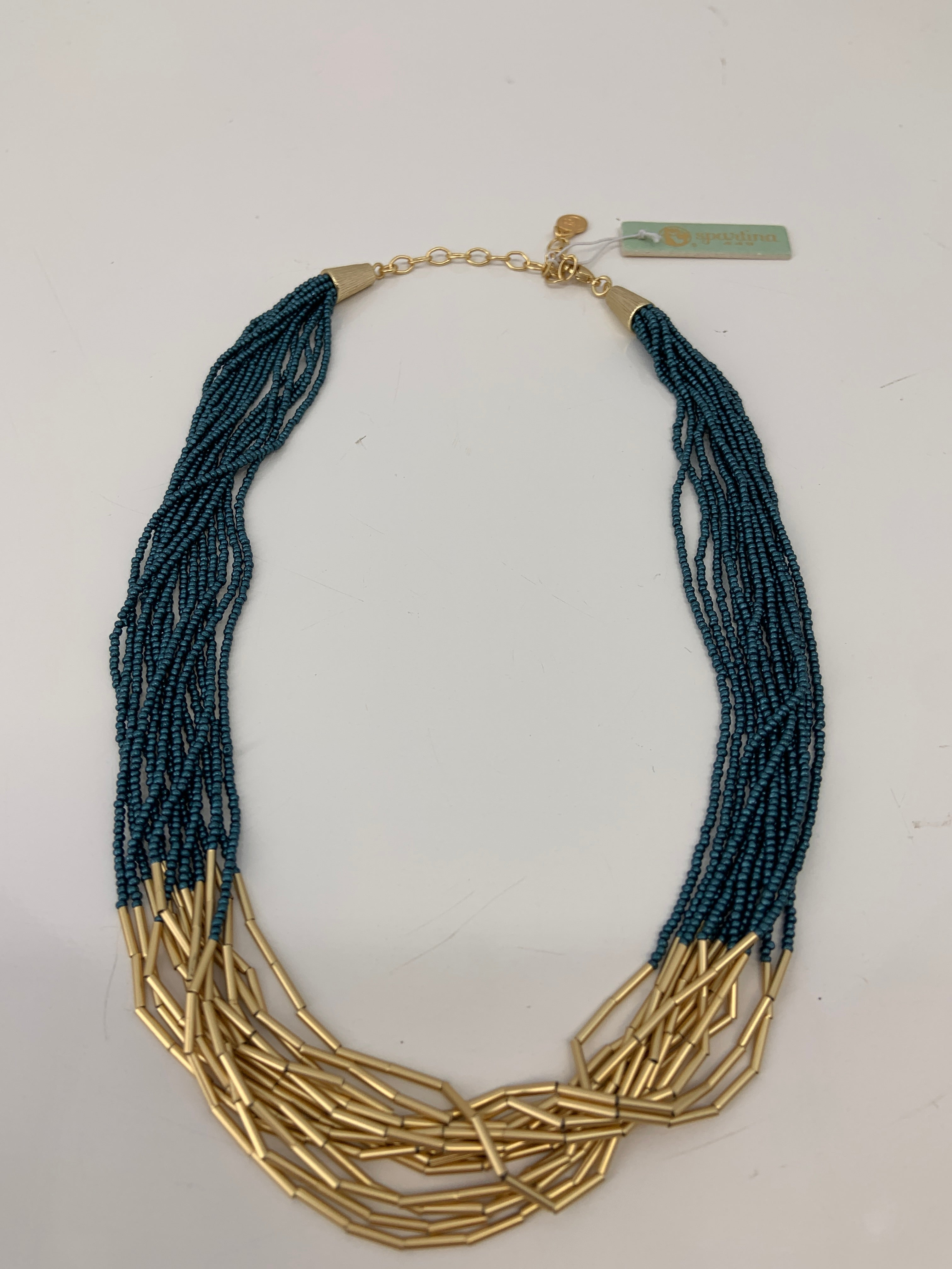 Primary Photo - BRAND: SPARTINA , STYLE: NECKLACE , COLOR: TEAL/GOLD, SKU: 127-4876-9990