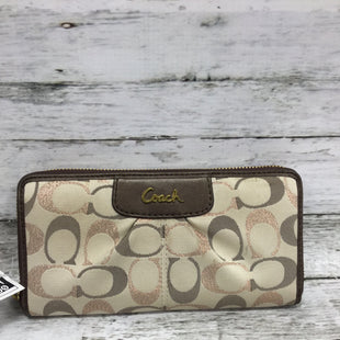 Primary Photo - BRAND: COACH STYLE: WALLET COLOR: TAN SIZE: SMALL SKU: 127-4876-9019THIS WALLET HAS SOME CONDITION ON THE OUTSIDE AND INSIDE. (SEE PHOTOS FOR DETAILS)