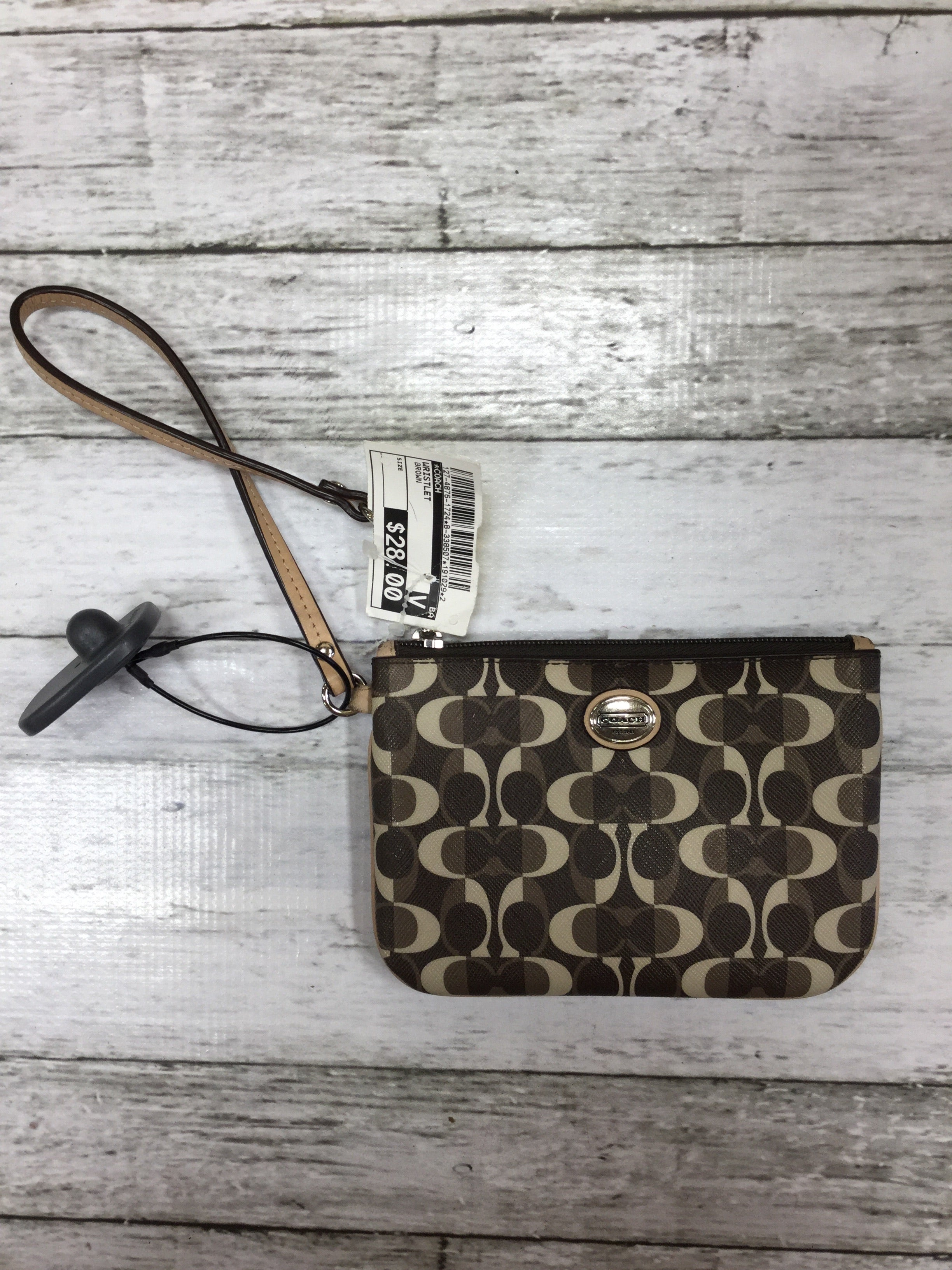 Primary Photo - BRAND: COACH , STYLE: WRISTLET , COLOR: BROWN , SKU: 127-4876-1724
