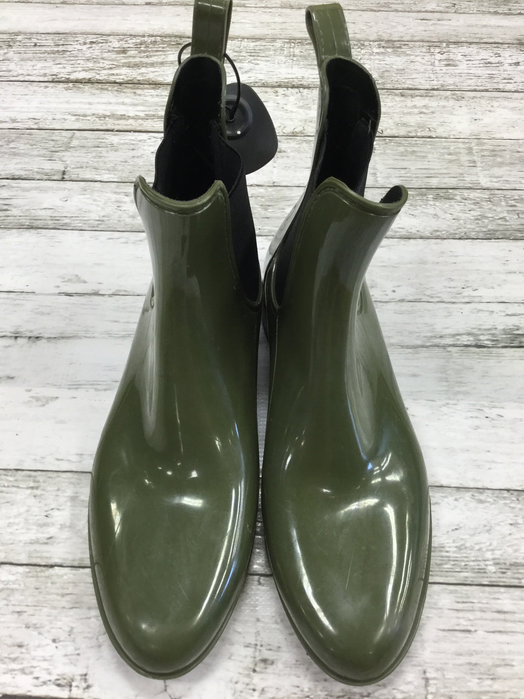 Primary Photo - BRAND: J CREW , STYLE: BOOTS ANKLE , COLOR: GREEN , SIZE: 10 , OTHER INFO: RAIN , SKU: 127-4942-1222