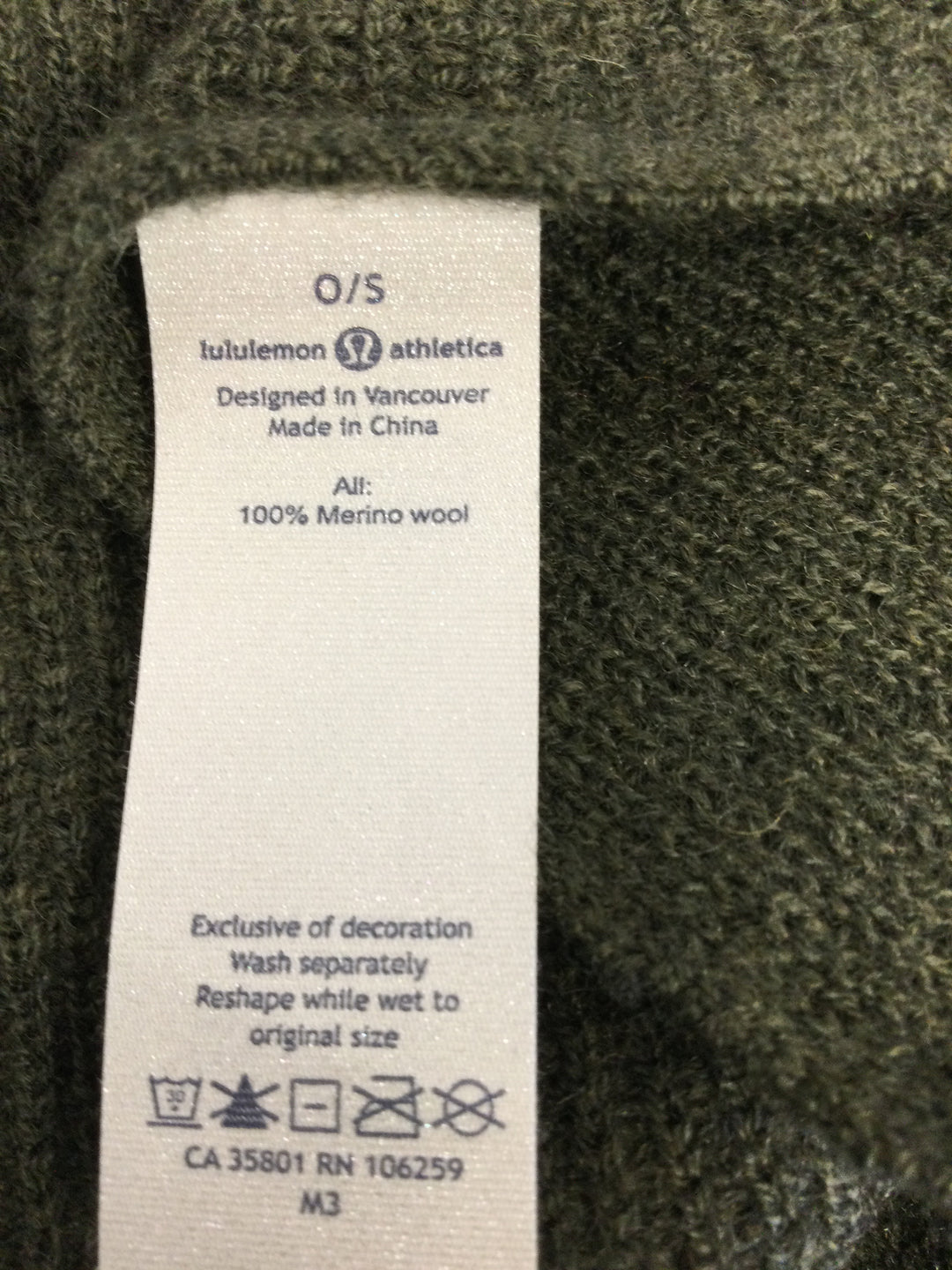 Photo #3 - brand: lululemon , style: scarf , color: olive , sku: 127-3371-51440