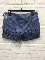 Photo #1 - BRAND: ANN TAYLOR LOFT , STYLE: SHORTS , COLOR: DENIM , SIZE: 4 , SKU: 127-3371-46755, , DENIM SHORTS WITH EMBROIDERED EYELET DETAILS!