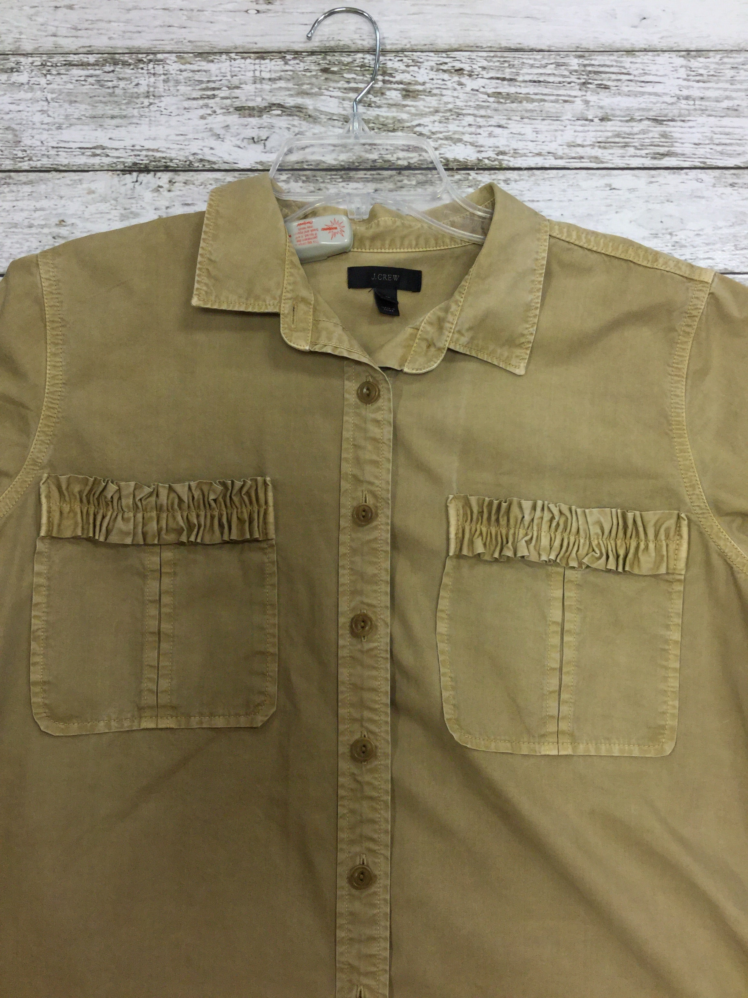 Photo #1 - BRAND: J CREW <BR>STYLE: TOP SHORT SLEEVE <BR>COLOR: KHAKI <BR>SIZE: 16 <BR>SKU: 127-3371-36578