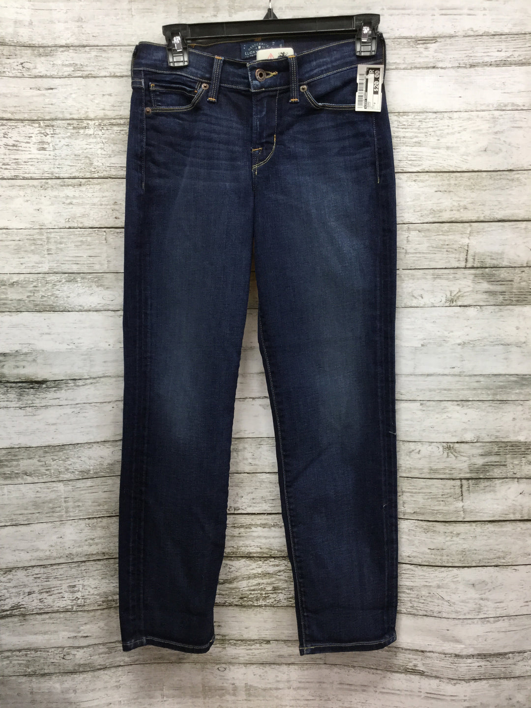 "Primary Photo - BRAND: LUCKY BRAND , STYLE: JEANS , COLOR: DENIM , SIZE: 0 , SKU: 127-4169-24084, , ""BROOKE CROP"" JEANS."