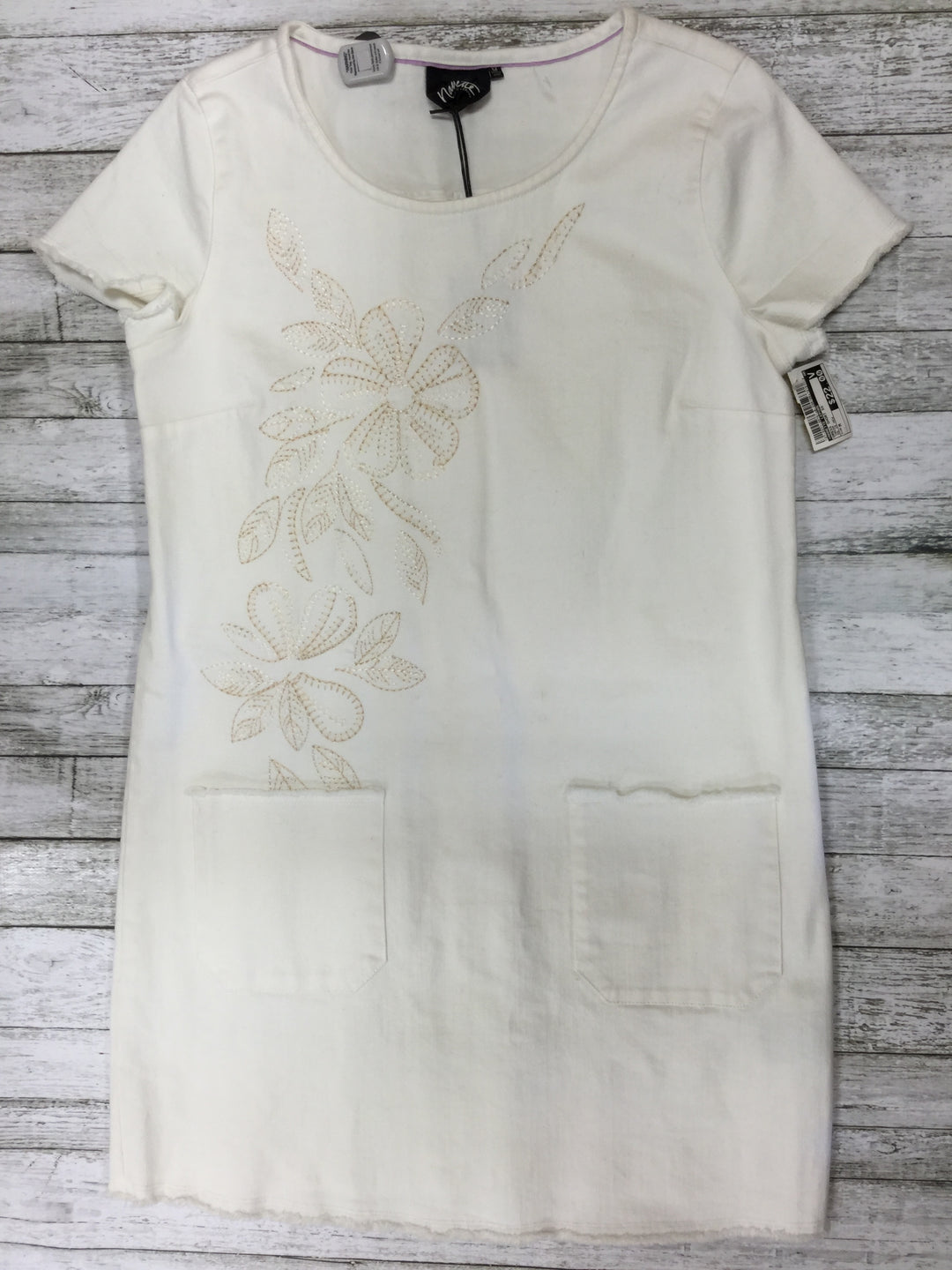 Primary Photo - BRAND: NANETTE LEPORE , STYLE: DRESS SHORT SHORT SLEEVE , COLOR: CREAM , SIZE: M , OTHER INFO: AS IS NEW , SKU: 127-3371-39761
