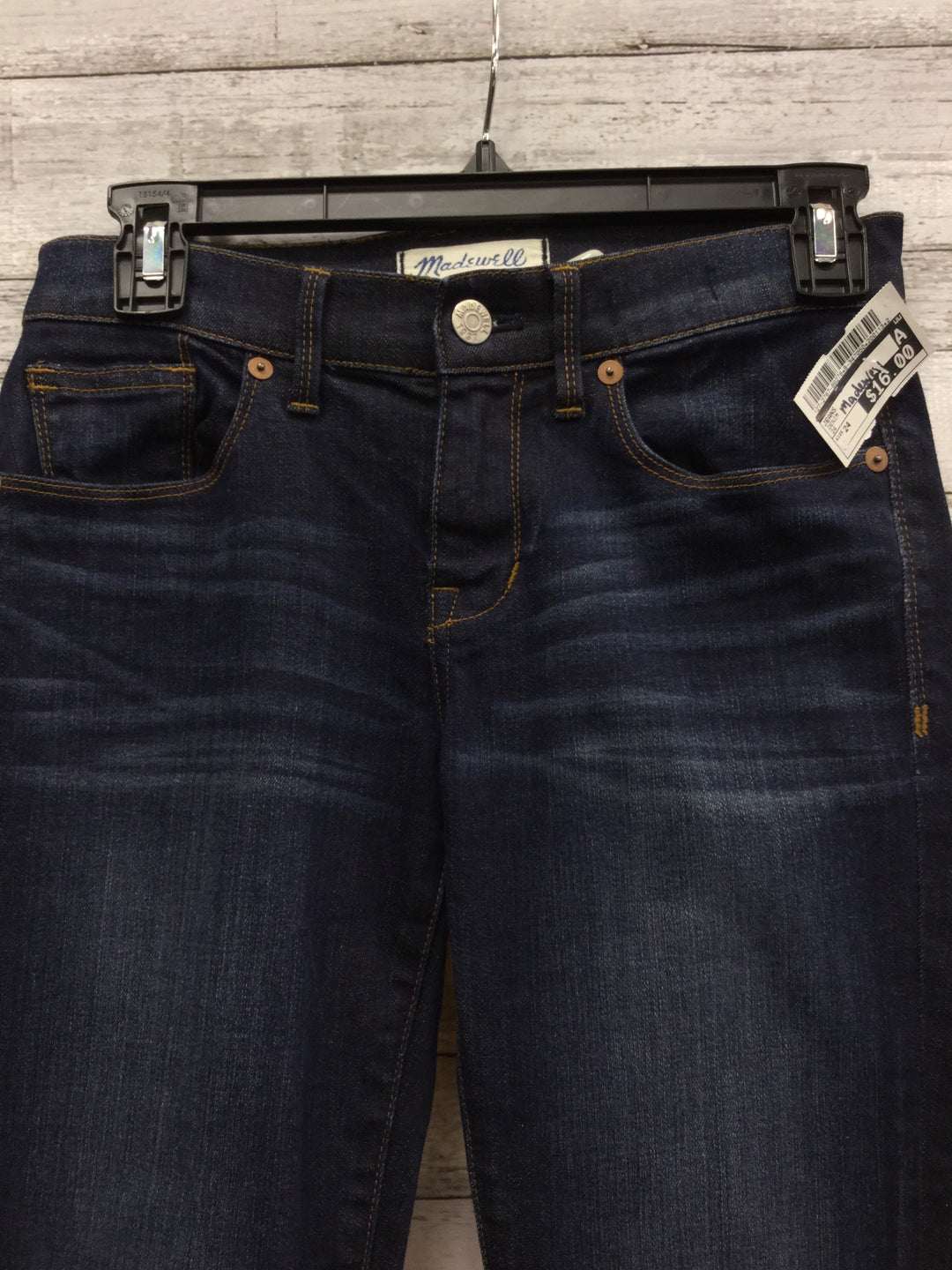 Photo #1 - BRAND: MADEWELL, STYLE: JEANS , COLOR: DENIM , SIZE: 24 , SKU: 127-2767-89276, , 24 INCH WAIST SKINNY JEANS.