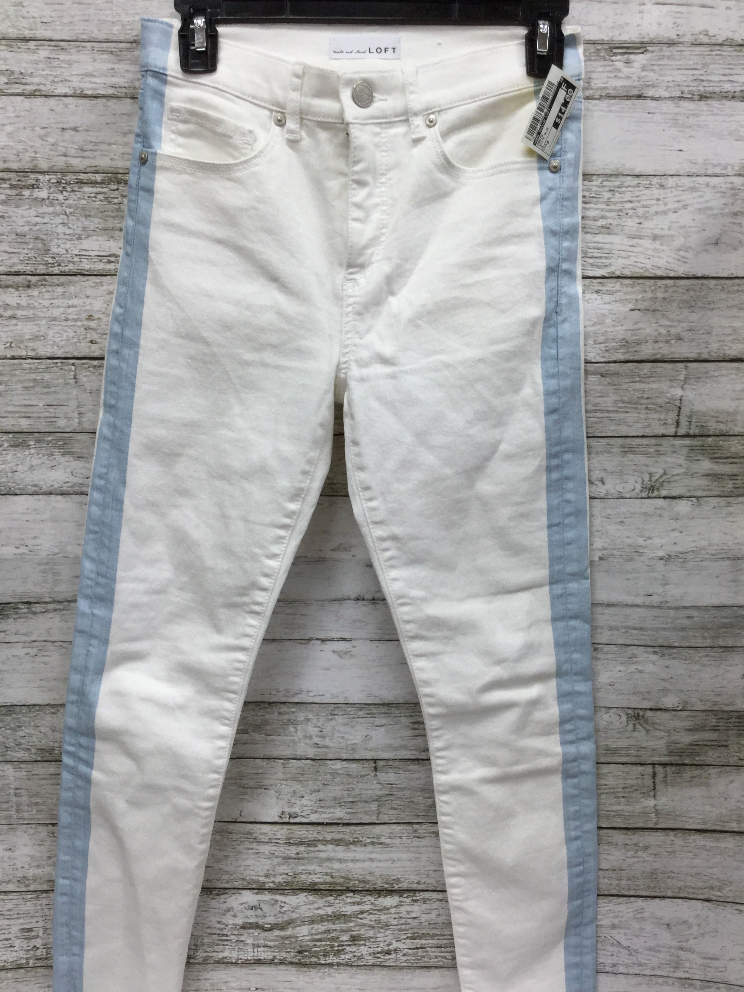Primary Photo - BRAND: ANN TAYLOR LOFT <BR>STYLE: PANTS <BR>COLOR: WHITE BLUE <BR>SIZE: 0 <BR>SKU: 127-3371-45906