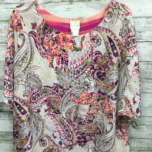 Primary Photo - BRAND: CHICOS STYLE: TOP SHORT SLEEVE COLOR: MULTI SIZE: 3 OTHER INFO: XL SKU: 127-4169-35213CHIC PAISLEY PRINT CHICO'S TOP!