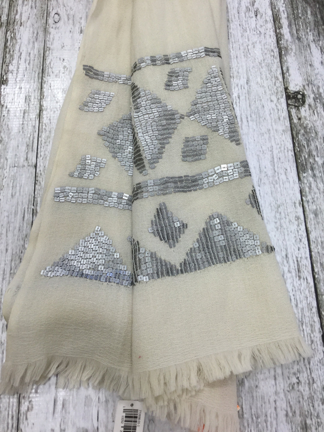 Primary Photo - BRAND: BANANA REPUBLIC O <BR>STYLE: SCARF <BR>COLOR: CREAM <BR>OTHER INFO: NEW! <BR>SKU: 127-3371-42674
