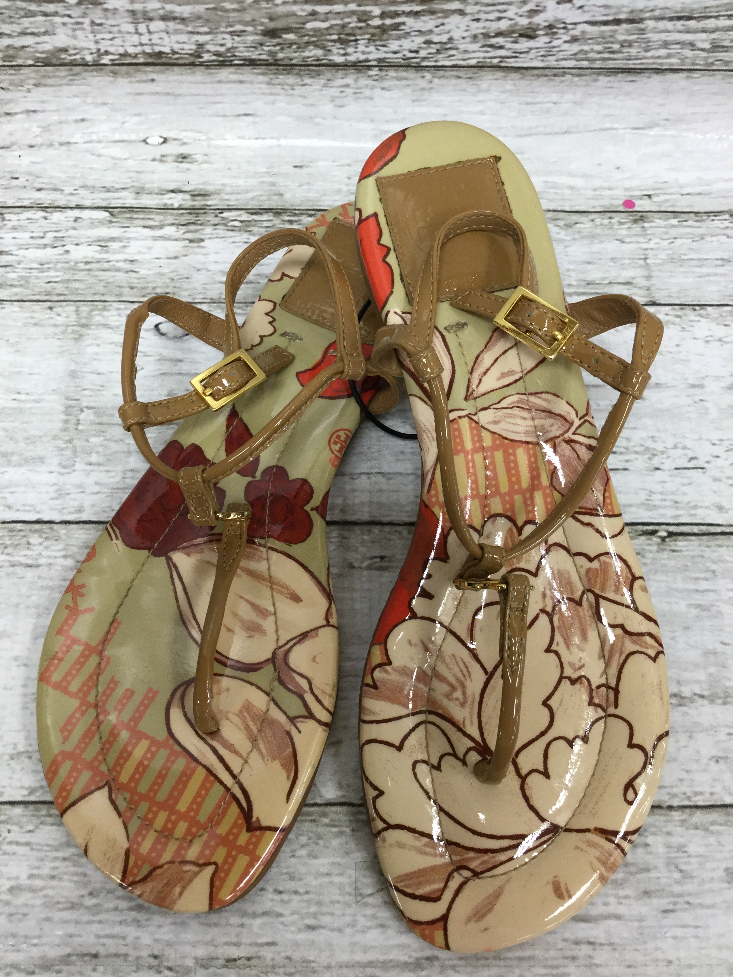 Primary Photo - BRAND: TORY BURCH , STYLE: SANDALS , COLOR: TAN , SIZE: 6 , SKU: 127-4876-7204, , THESE SANDALS ARE VERY CLEAN AND IN GREAT CONDITION!