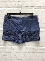 Primary Photo - BRAND: ANN TAYLOR LOFT , STYLE: SHORTS , COLOR: DENIM , SIZE: 4 , SKU: 127-3371-46755, , DENIM SHORTS WITH EMBROIDERED EYELET DETAILS!