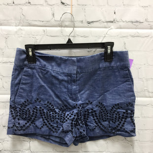 Primary Photo - BRAND: ANN TAYLOR LOFT STYLE: SHORTS COLOR: DENIM SIZE: 4 SKU: 127-3371-46755DENIM SHORTS WITH EMBROIDERED EYELET DETAILS!