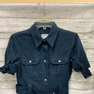 Primary Photo - BRAND: CHANEL STYLE: TOP SHORT SLEEVE COLOR: NAVY SIZE: 4 SKU: 127-4942-2032SNAP BUTTONS  100% COTTON.