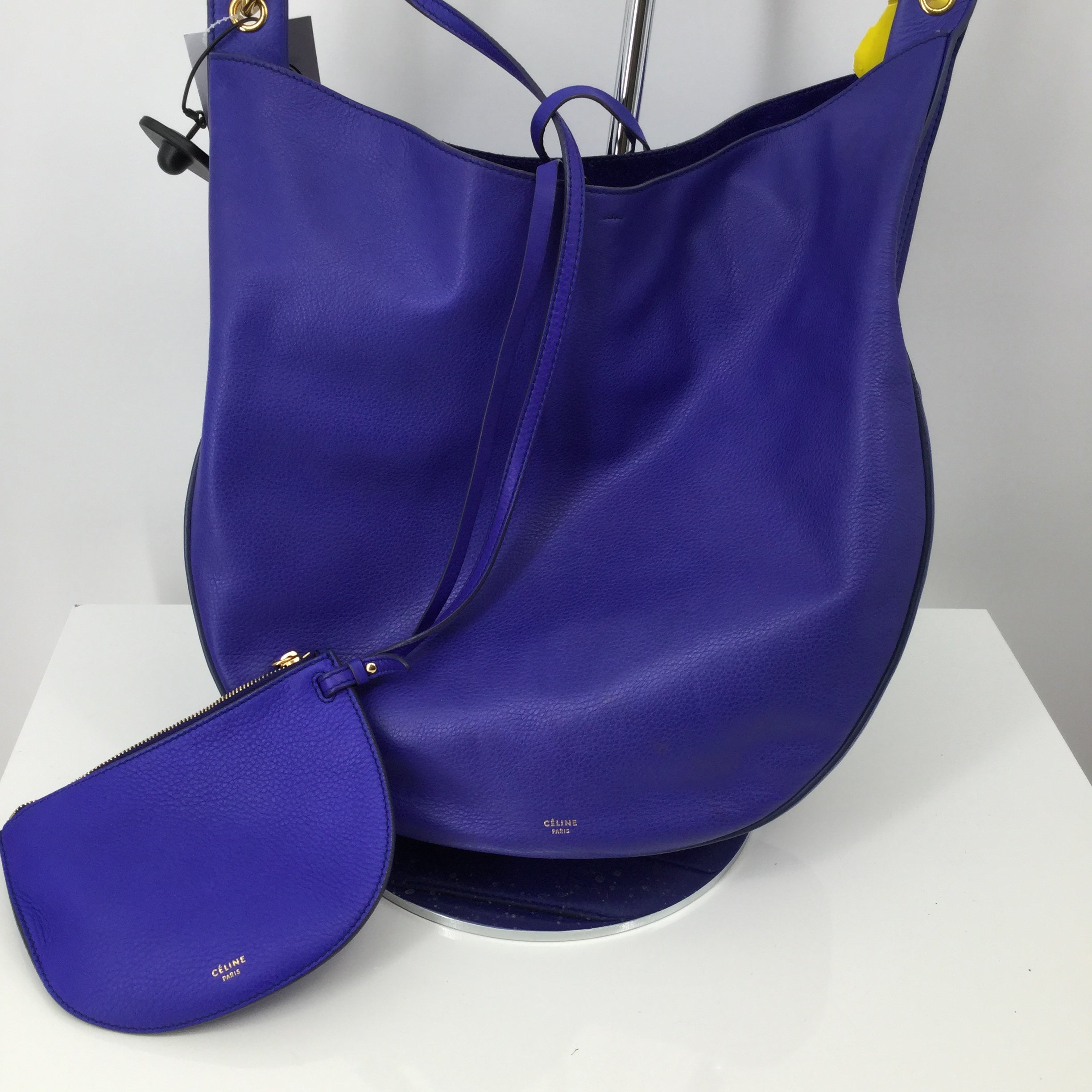 Primary Photo - BRAND: CELINE , STYLE: HANDBAG , COLOR: PERIWINKLE , SIZE: LARGE , OTHER INFO: AS IS , SKU: 127-2767-92180, , SUPPLE CALFSKIN LARGE HOBO INDIGO W/ SLEEPER BAG AND REMOVABLE POUCH TO BE USED AS A WALLET!⁣⁣ , LONGEST LENGTH : 14.5 IN⁣⁣, WIDTH: 2.75 IN⁣⁣, HEIGHT: 13.5 IN⁣⁣, DROP: 11 IN⁣⁣, 𝐒𝐭𝐲𝐥𝐞/𝐈𝐃#: U GM 0124⁣⁣, YEAR: 2014