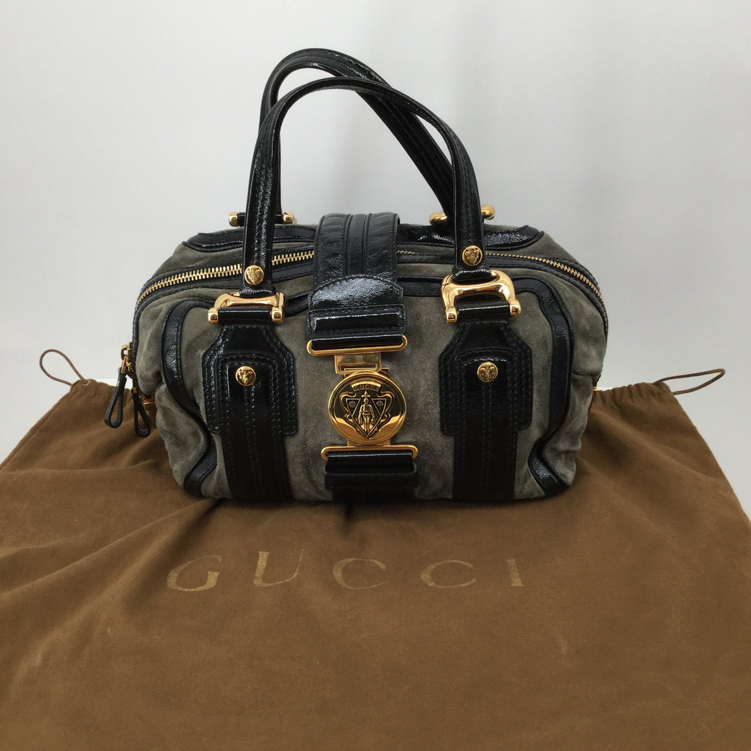Gucci Aviatrix Designer Handbag With Sleeper Bag - <P>WHO SAYS DREAMS DON'T COME TRUE? MAKE THIS GUCCI AVIATRIX DESIGNER HANDBAG YOURS TODAY AND TURN YOUR DREAMS INTO A REALITY FOR ONLY $340. MINOR PILLING ON THE BAG AS PICTURED BEING SOLD AS IS.</P>
