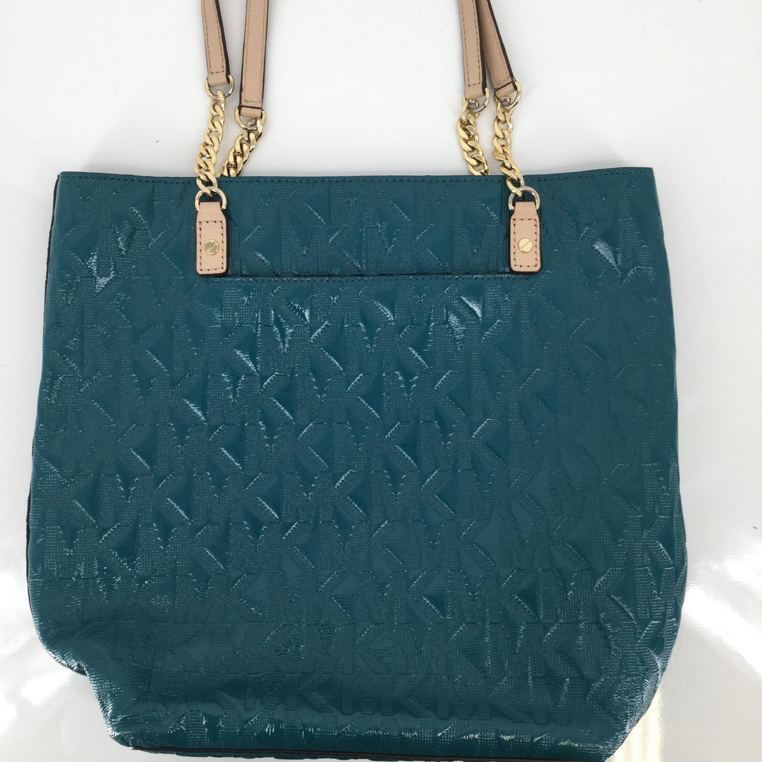 Michael Kors Designer Handbag, Leather, Green, Size: Large - <P>THIS STUNNING MICHAEL KORS HANDBAG FEATURES THE CLASSIC