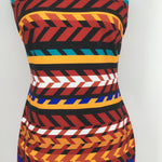 Calvin Klein Multicolored Short Sleeveless Dress Size 4 - <P>THIS CALVIN KLEIN DRESS IS NEW WITH TAGS! IT IS FITTED IN THE WAIST AND HAS A ZIPPER DOWN THE BACK. THIS DRESS IS IN VERY GOOD CONDITION WITH VERY LITTLE WEAR (SEE PHOTOS).</P>