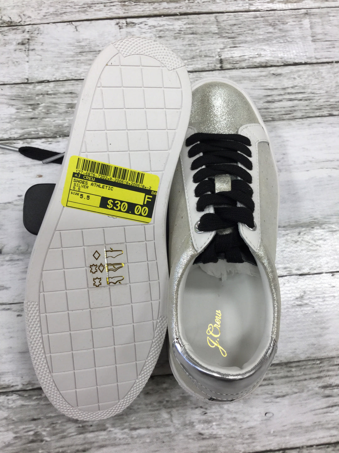 Photo #3 - BRAND: J CREW <BR>STYLE: SHOES ATHLETIC <BR>COLOR: SILVER <BR>SIZE: 5.5 <BR>SKU: 127-4876-7202