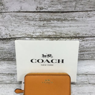 Primary Photo - BRAND: COACH STYLE: WALLET COLOR: ORANGE SIZE: SMALL OTHER INFO: NEW! SKU: 127-4169-35347CUTE ORANGE COACH WALLET, NEW WITH TAGS AND IN GREAT CONDITION!