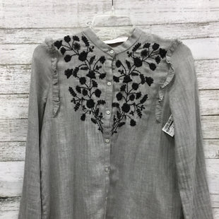 Primary Photo - BRAND: ZARA BASIC STYLE: BLOUSE COLOR: GREY SIZE: S SKU: 127-4169-30969IN GOOD CONDITION.