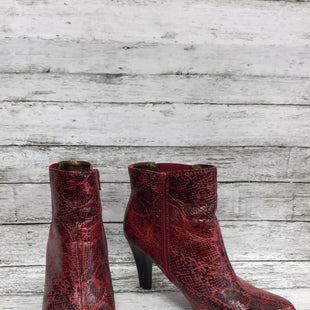 Primary Photo - BRAND: RIALTO STYLE: BOOTS ANKLE COLOR: RED SIZE: 8.5 SKU: 127-4876-8622RED SNAKESKIN HEELED BOOTIES!