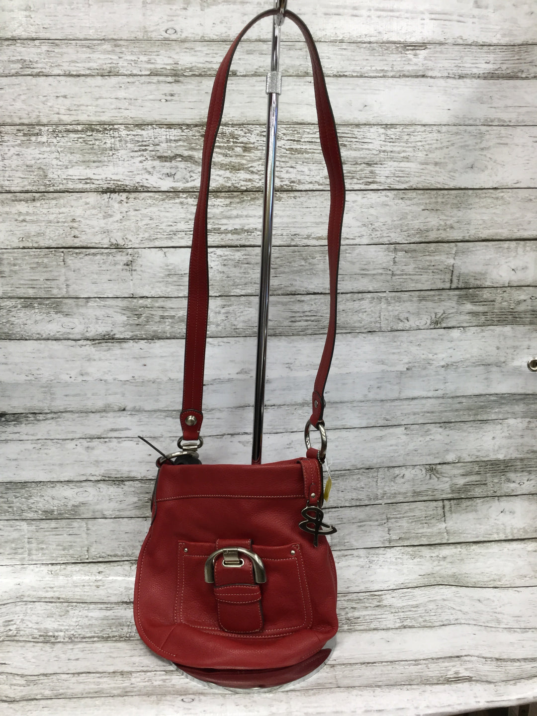 Primary Photo - BRAND: B MAKOWSKY <BR>STYLE: HANDBAG DESIGNER <BR>COLOR: RED <BR>SIZE: MEDIUM <BR>SKU: 127-4954-4380