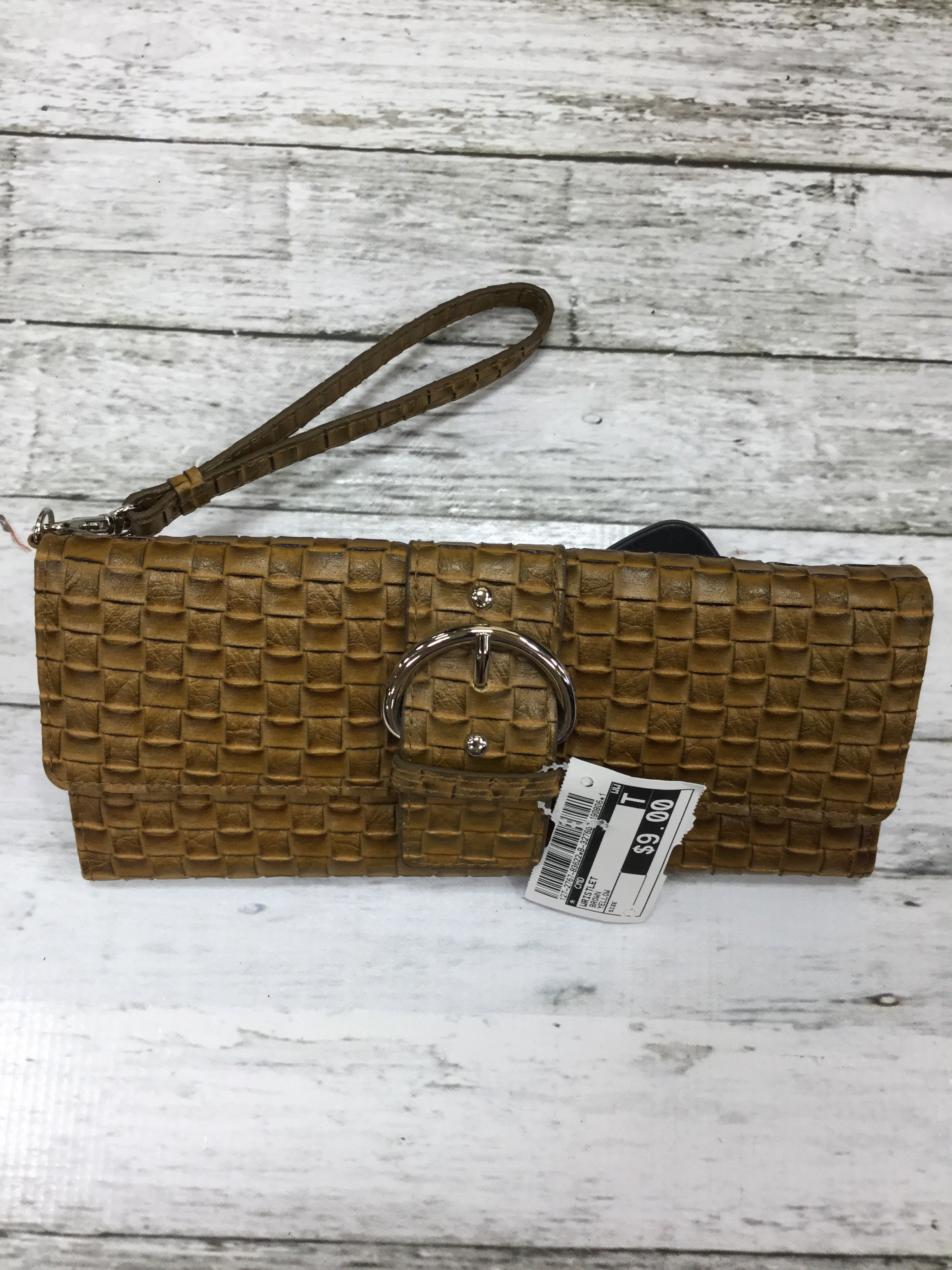 Primary Photo - BRAND:    CMD , STYLE: WRISTLET , COLOR: BROWN , OTHER INFO: YELLOW , SKU: 127-2767-83622