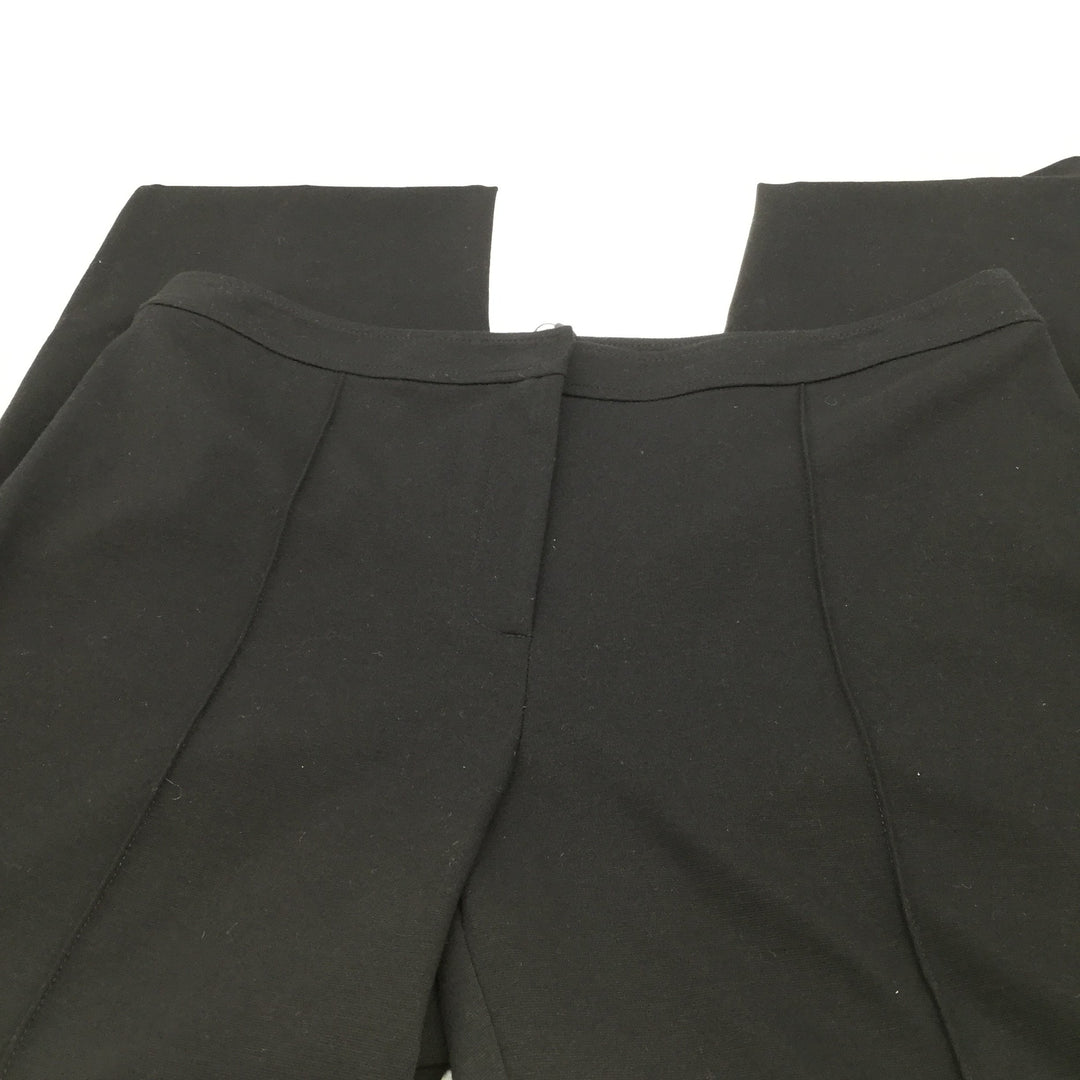 NEW! St John Collection Black viscose Pants Size:12 - <P>NEW WITH TAGS!! ST. JOHN COLLECTION BLACK STRAIGHT LEG PANTS IN THE EMMA STYLE. STYLE SEEM GOING DOWN THE MIDDLE OF THE PANT LEGS AND NO POCKETS.</P>