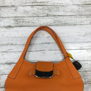 Primary Photo - BRAND: TODS STYLE: HANDBAG LEATHER COLOR: ORANGE SIZE: SMALL SKU: 127-3371-45325