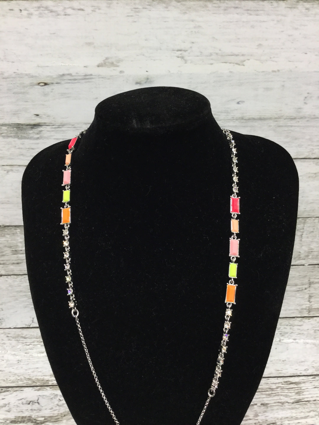 Primary Photo - BRAND: ANN TAYLOR O , STYLE: NECKLACE , COLOR: MULTI , SKU: 127-4559-9429, , ORANGE, PINK, LIME GREEN, AND PEACH BEADS. IN GREAT CONDITION.