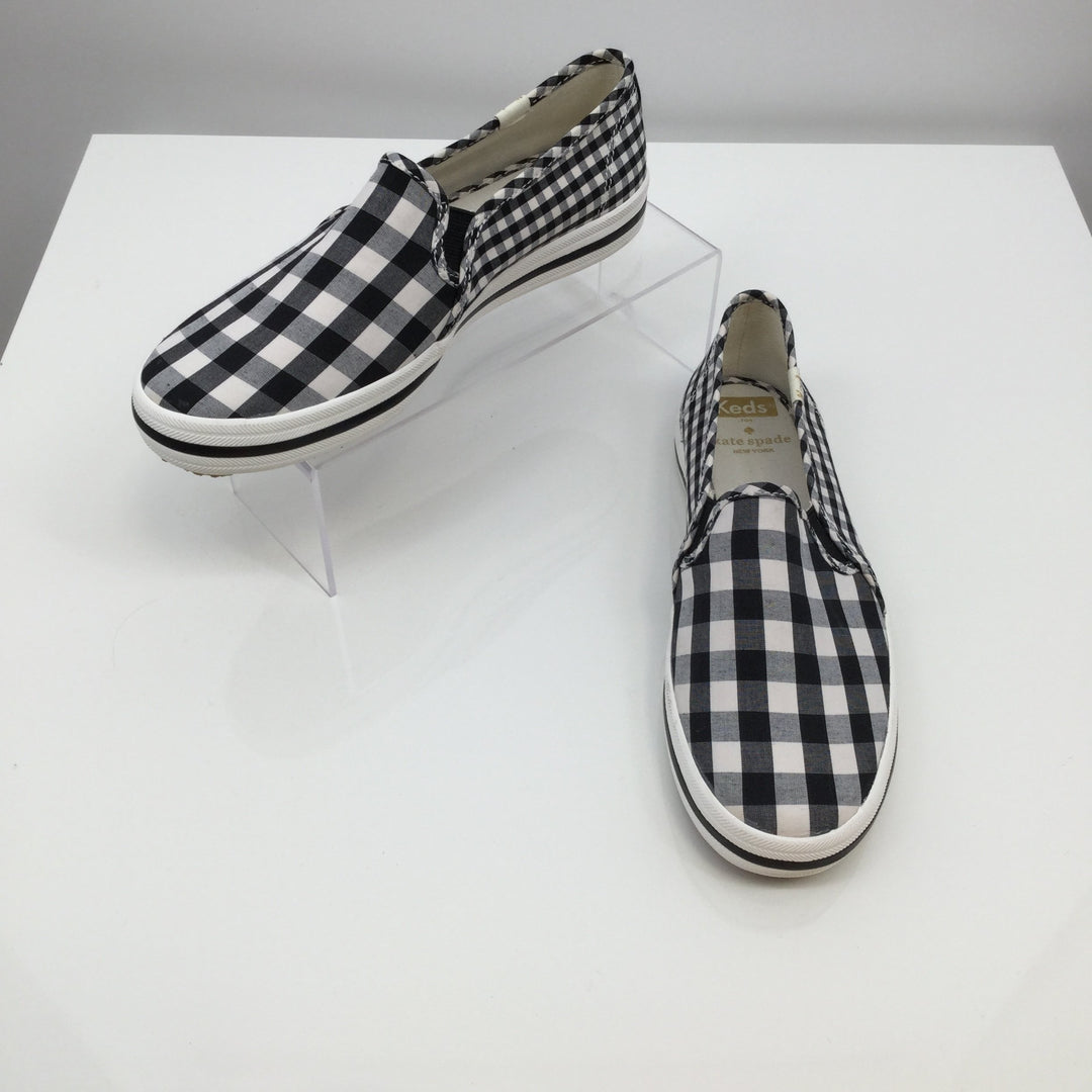 KATE SPADE BY KEDS SHOES FLATS SIZE:6.5 - <P>SUPER CUTE!!!!!!!  KEDS-KATE SPADE SLIP-ON SHOES! BLACK AND WHITE CHECK. SIZE 6.5.</P>