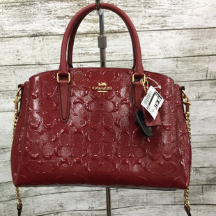 Primary Photo - SHINE BRIGHT WITH THIS SPARKLY RED HANDBAG BY COACH WITH GOLD HARDWARE. REMOVABLE AND ADJUSTABLE CROSSBODY STRAP. MULTIPLE COMPARTMENTS INSIDE, COMES WITH SLEEPER BAG. BRAND: COACH STYLE: HANDBAG COLOR: RED SIZE: MEDIUM SKU: 127-4942-2883
