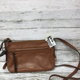Primary Photo - BRAND: FOSSIL STYLE: CROSSBODY COLOR: BROWN SIZE: SMALL SKU: 127-4954-4389