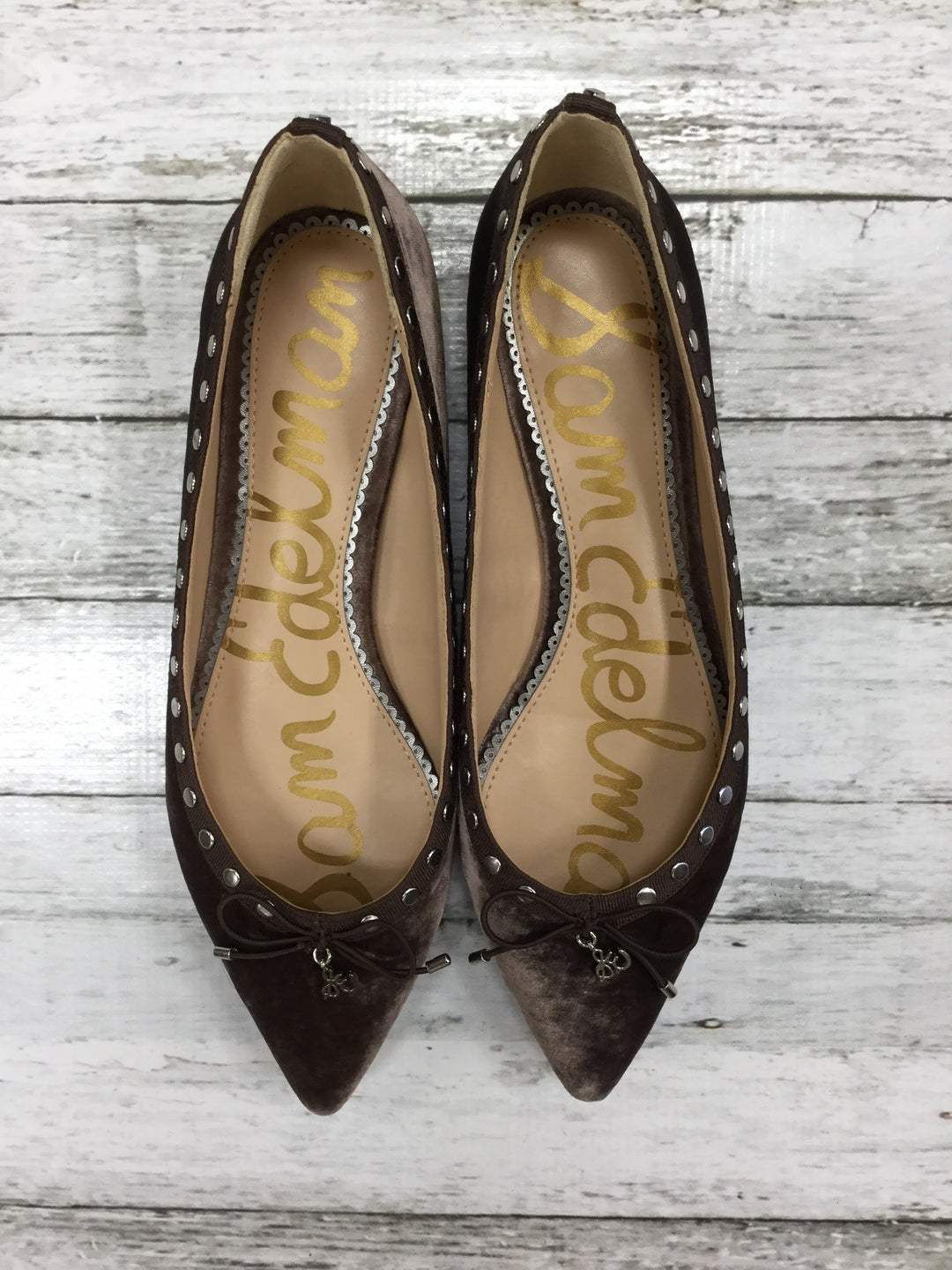 Primary Photo - BRAND: SAM EDELMAN <BR>STYLE: SHOES FLATS <BR>COLOR: BROWN <BR>SIZE: 8.5 <BR>SKU: 127-4559-14338