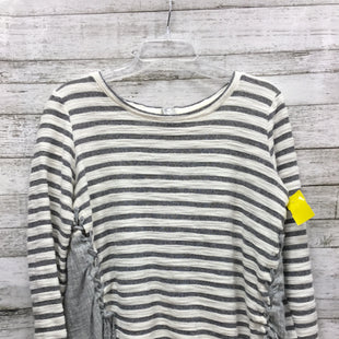 Primary Photo - BRAND: HEM & THREAD STYLE: TOP LONG SLEEVE COLOR: WHITE BLUE SIZE: L SKU: 127-4876-7651GENTLY USED AND IN GOOD CONDITION.