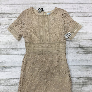 Primary Photo - BRAND: SHE + SKY STYLE: DRESS SHORT SHORT SLEEVE COLOR: TAN SIZE: S SKU: 127-3371-43804