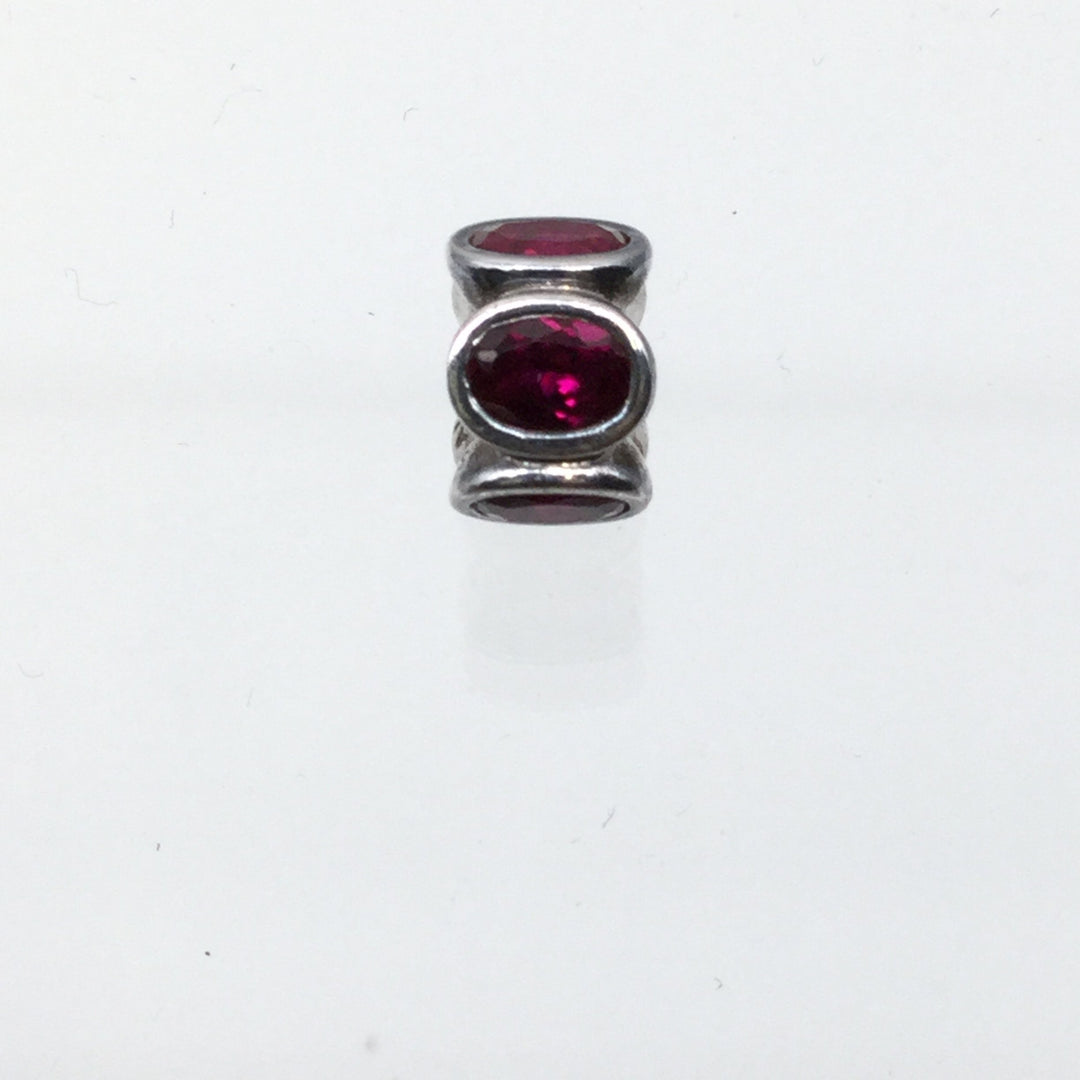 Pandora Red Charm - <P>JANUARY OR JULY BIRTHSTONE AUTHENTIC PANDORA CHARM 925 ALE.</P>