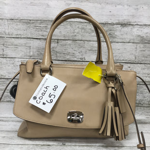 "Primary Photo - BRAND: COACH STYLE: HANDBAG DESIGNER COLOR: TAN SIZE: MEDIUM OTHER INFO: AS IS SKU: 127-4169-35015THIS ADORABLE BAG IS BEING SOLD ""AS IS"" DUE TO SOME MARKINGS ON THE OUTSIDE AND INSIDE (AS PICTURED.)"