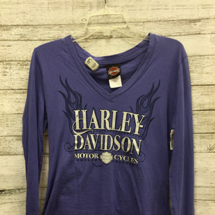 Primary Photo - BRAND: HARLEY DAVIDSON STYLE: TOP LONG SLEEVE COLOR: PURPLE SIZE: M OTHER INFO: NEW! SKU: 127-4481-6529NEW WITH TAGS.