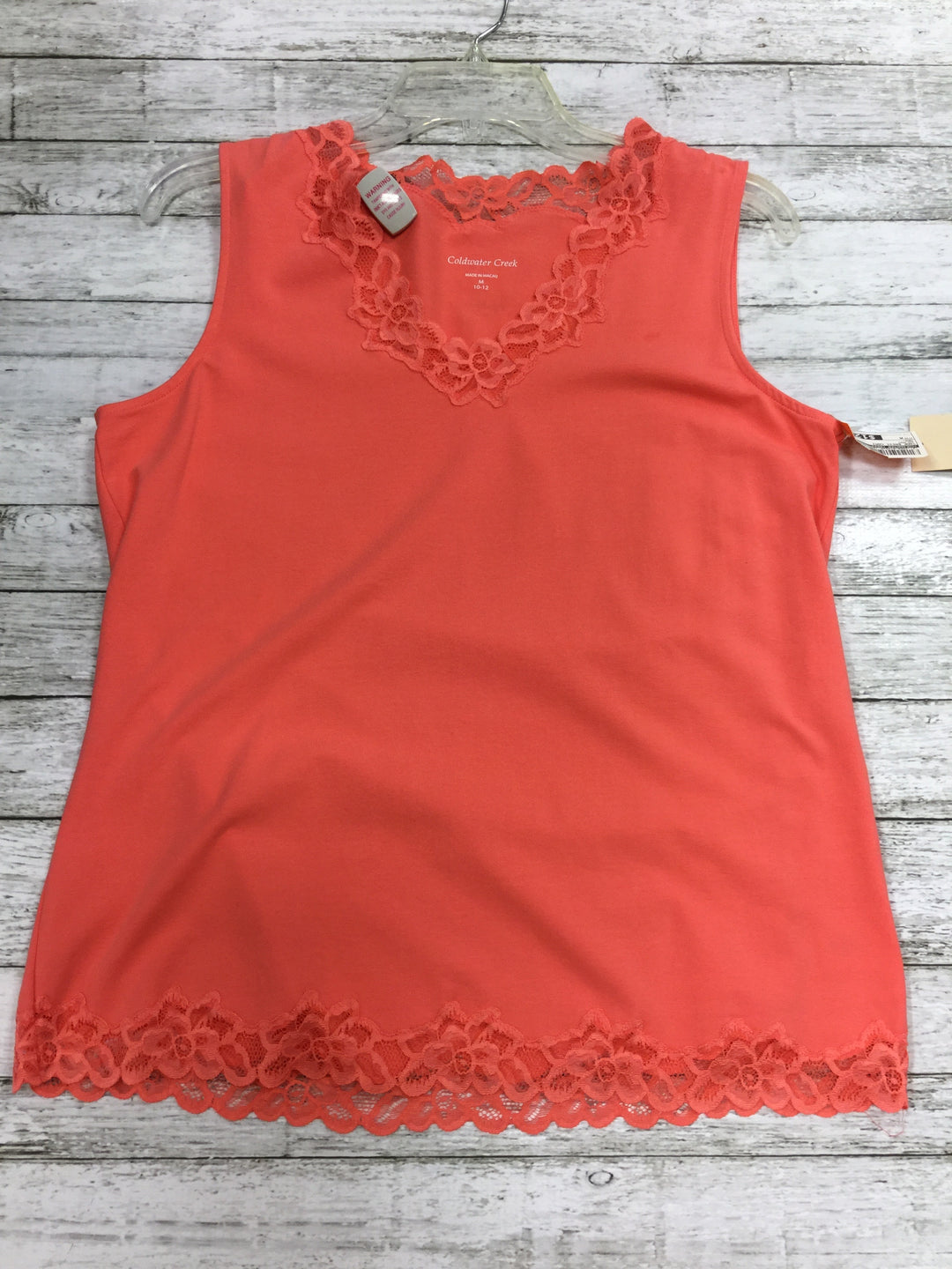 Primary Photo - BRAND: COLDWATER CREEK , STYLE: TANK BASIC CAMI , COLOR: SALMON , SIZE: M , OTHER INFO: NEW! , SKU: 127-4559-9745